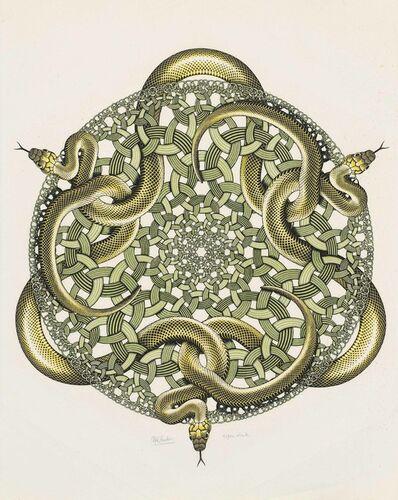 Maurits Cornelis Escher, 'Snakes', 1969