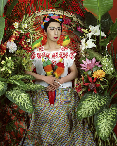 Yasumasa Morimura, 'An Inner Dialogue with Frida Kahlo (Four Parrots)', 2001