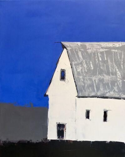 Sandra Pratt, 'White Barn with Blue', 2021