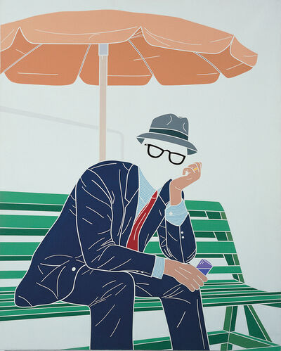 Emilio Tadini, 'L'uomo dell'organizzazione. Weekend al Parco. / The Man of the Organisation. Weekend at the Park', 1968
