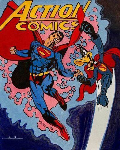 Alain Bertrand, 'Daffy V Superman', 2019