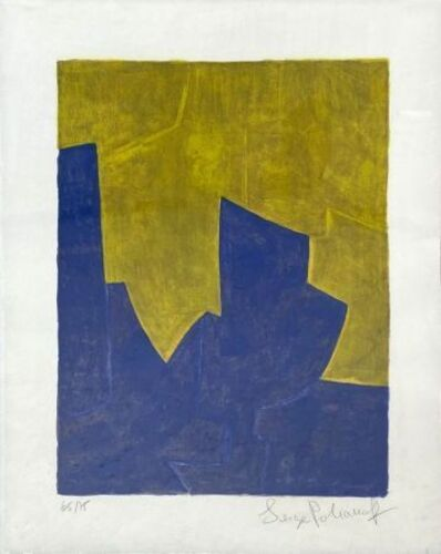 Serge Poliakoff, 'composition in blue and yellow n°61 ', 1966