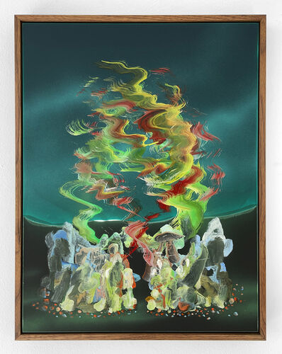 Zach Storm, 'Mirage (Viridian & Green Earth)', 2020
