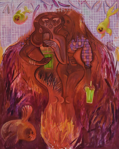 Delia Brown, '@joan of juice', 2017