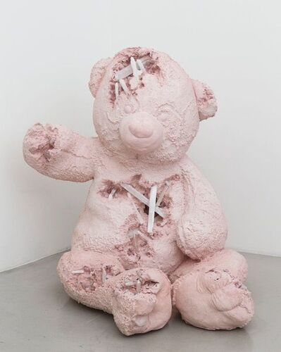 Daniel Arsham, 'Selenite and Rose Quartz Eroded Bear (Large)', 2017