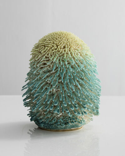 The Haas Brothers, 'Unique, Hand-thrown Gnome Dome Accretion with Matte Turquoise and Tossed Avocado Glaze', 2015