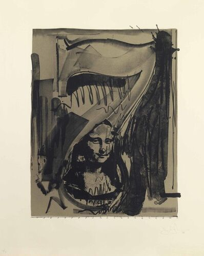 Jasper Johns, 'Figure 7, from Black Numeral Series', 1968