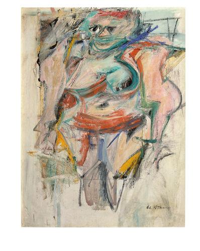 Willem de Kooning, 'Woman Standing--Pink', 1954-1955