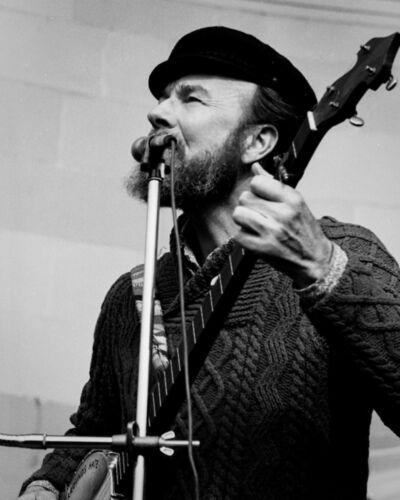 Nick Levitin, 'Pete Seeger, Central Park, 1', 1970