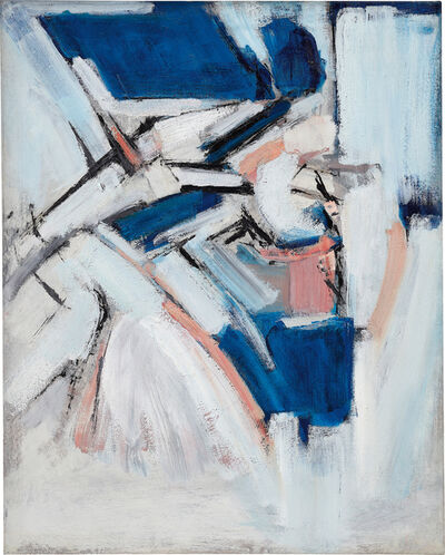 Adrian Heath, 'Pink Blue Abstract', 1962