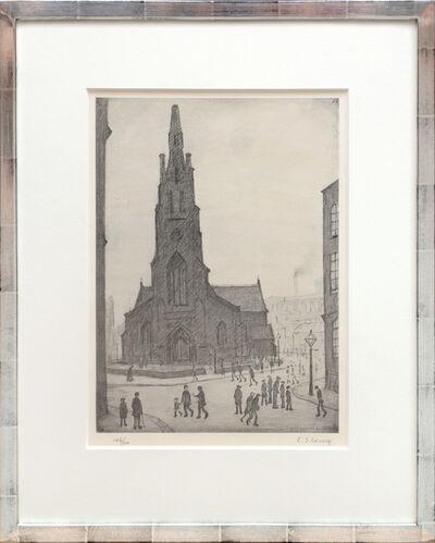 Laurence Stephen Lowry, 'Street Scene, St. Simon's Church.', ca. 1970