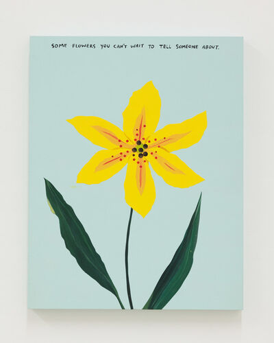 Michael Dumontier & Neil Farber, 'some flowers you can't wait', 2021