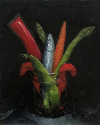 Tom Giesler, 'Floral 2: frozen fish otter pop vegetable', 2020