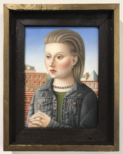 Amy Hill, 'Woman with Black Denim Jacket', ca. 2017