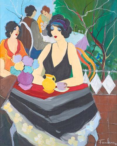 Itzchak Tarkay, 'Untitled (Seated Woman in Black Dress)'
