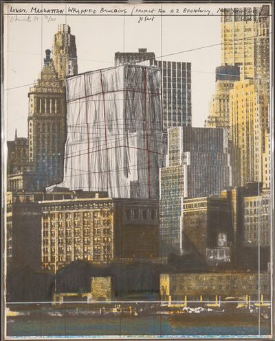 Christo and Jeanne-Claude, 'Lower Manhattan Wrapped Building (Project for 2 Broadway, New York)', 1984