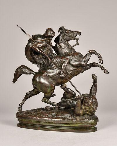 Antoine-Louis Barye, 'Cavalier Arabe Tuant un Lion', 19th century