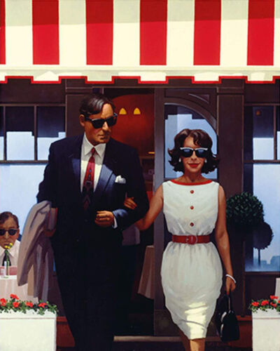 Jack Vettriano, 'Lunchtime Lovers - Framed (New Release)', 2021