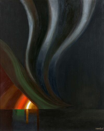 Amédée Ozenfant, 'La tornade au coucher du soleil', ca. 1966