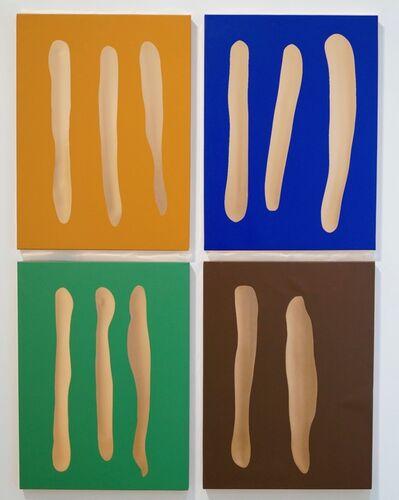 Günther Förg, 'Mr. Blue, Mr. Green, Mr. Brown, Mr. Orange', 2002