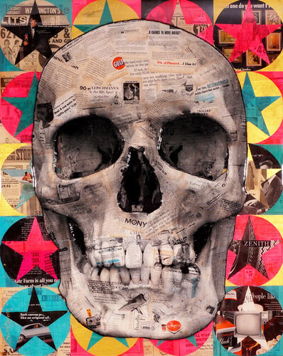 Robert Mars, ''A Chance To Move Ahead' Skull (Unique)', 2019