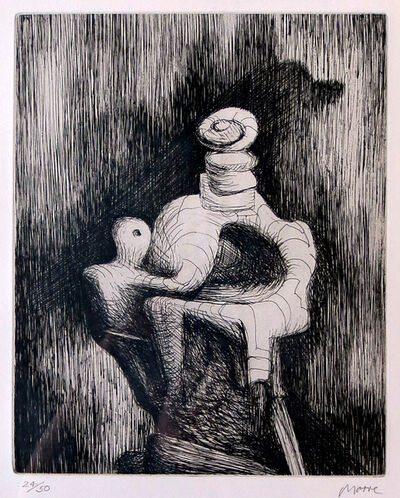 Henry Moore, 'Mother and Child', 1979