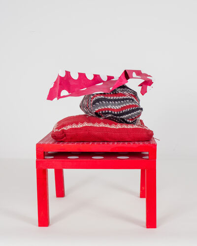 Michelle Forsyth, 'Red Stack with Norwegian pillow16', 2020