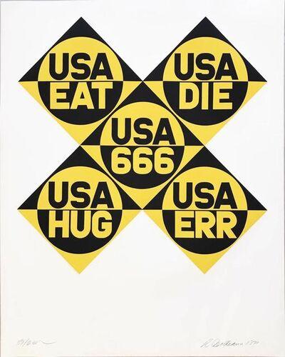 Robert Indiana, 'Decade (USA 666)', 1971
