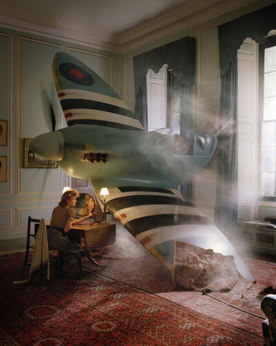 Tim Walker, 'Lily Donaldson in Blue Spitfire, Glemham Hall, Suffolk, 2009', 2009