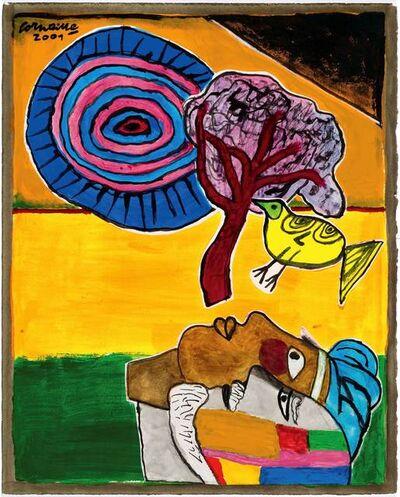 Corneille, 'Le peintre et sa muse', 2001