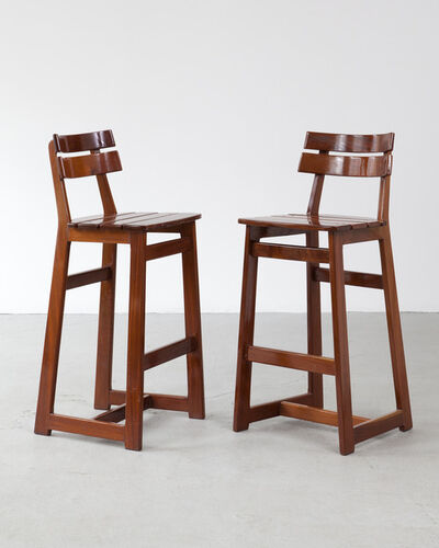 Sergio Rodrigues, 'Pair of barstools', 1970s