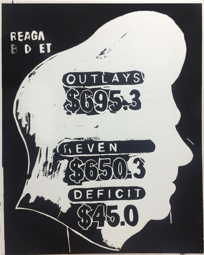 Andy Warhol, 'Reagan Budget Deficit (Negative)', 1985-1986