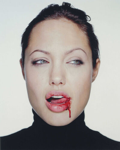 Martin Schoeller, 'Angelina Jolie with Blood', 2000