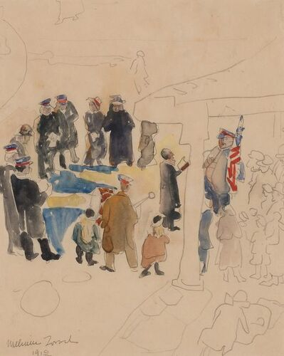 William Zorach, 'Salvation Army Band at Jefferson Market', 1912