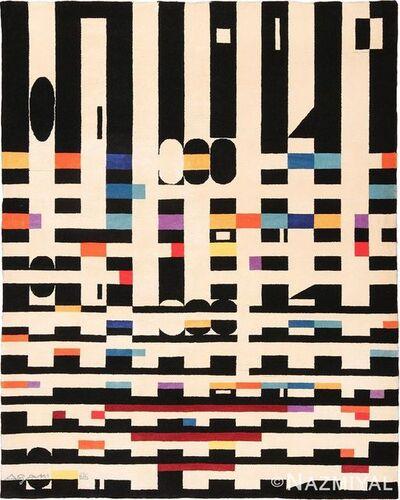 Yaacov Agam, 'Vintage Geometric Israeli Yaccov Agam Bauhaus Rug', Mid-20th Century