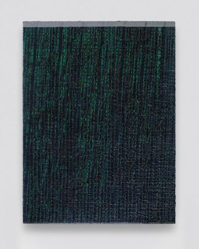 Chi Qun 迟群, 'One Grey Line- Blue and Green', 2019
