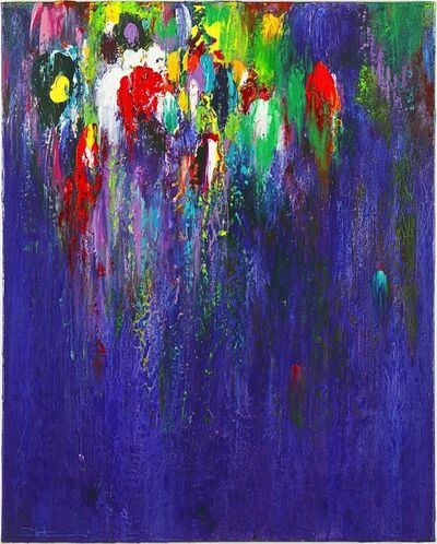 Paul Fournier, 'Night of the Amazon Parrot - blue, green, red, white, yellow acrylic abstract', 2012