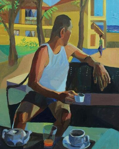 Mikey Yates, 'Coffee with Tito Jo', 2021
