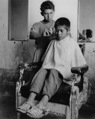 Rodrigo Moya, 'Peluquería, Ixmiquilpan, Hidalgo, México', 1955