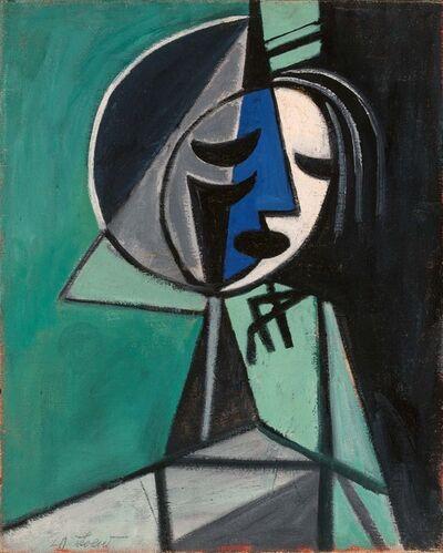 Michael Loew, 'Blue Cubic Head', 1928