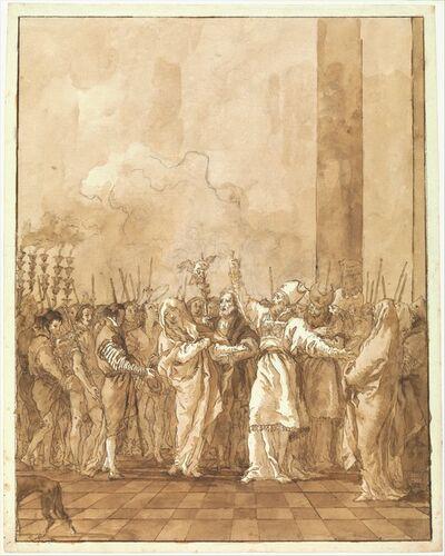 Giovanni Domenico Tiepolo, 'The Betrothal of the Virgin', ca. 1770