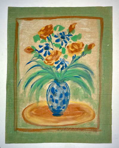 Sybil Gibson, 'Polka Dot Vase Done in Blue', 1976