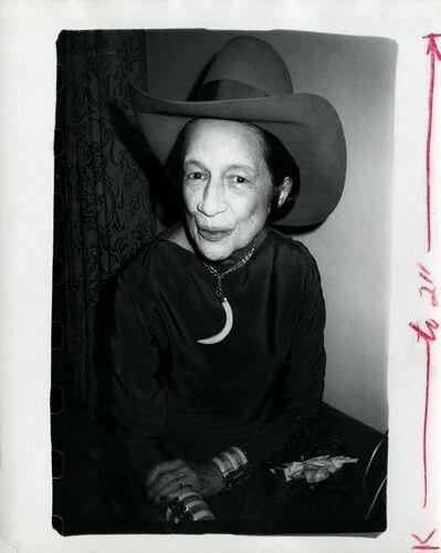Andy Warhol, 'Diana Vreeland wearing a cowboy hat', ca. 1980