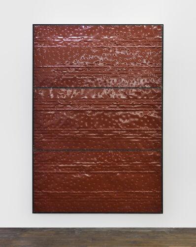 Kevin Rouillard, 'Extrait (tôle,choc) les rêves individuels et les événements de la vie matérielle et sociale, fragment rouge', 2017