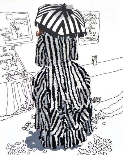 Mary Jo Karimnia, 'Striped Umbrella', 2016