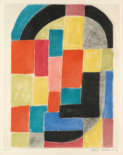 Sonia Delaunay, 'Couleur et Rythme', circa 1970