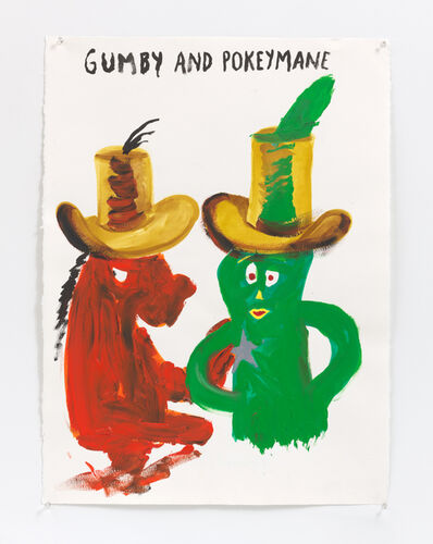 Raymond Pettibon, 'No Title (Gumby and Pokeymane)', 2019
