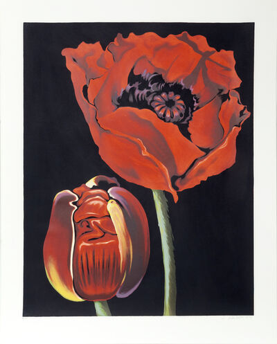 Lowell Nesbitt, 'Red Poppies', 1979