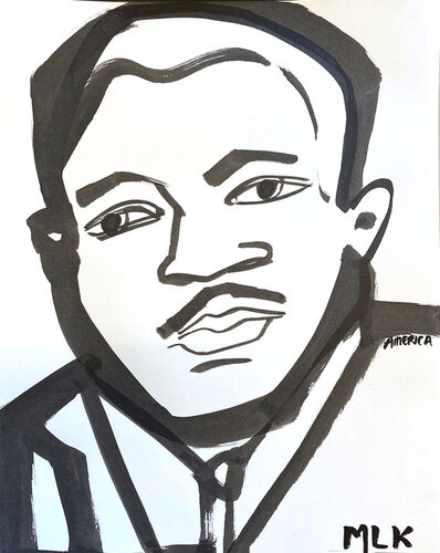 America Martin, 'Martin Luther King Jr. No. 4', 2020
