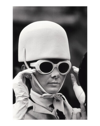 Terry O'Neill, 'Audrey Hepburn White Hat and Glasses 1'